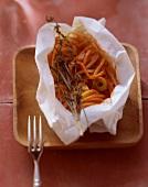 Spaghetti al cartoccio (Spaghetti baked in paper)