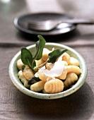 Gnocchi alla salvia (Gnocchi with Parmesan & sage butter)