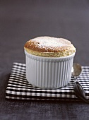 Coffee souffle in a mould