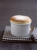 Coffee souffle in a mould