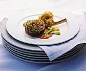 Lamb cutlet with macadamia crust