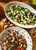 Contorni di bietole e fave (Vegetable side dishes: with chard & beans)