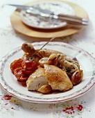 Poulet de Gruyère (Gruyère-style chicken, Switzerland)