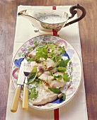 Bream with white wine and herb sauce (Zug, Switzerland)