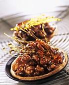 Caramelised walnut tartlets