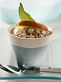 Grated apple with yoghurt cream for children
