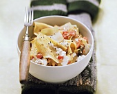 Krautfleckerl (pasta & cabbage) with soft cheese and caraway