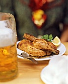 Roast chicken and litre of beer