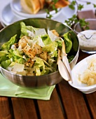 Iceberg lettuce with croutons and Parmesan