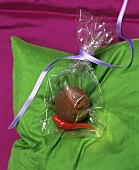 Chocolate with chili pepper to give as a gift