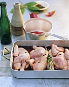 Marinating poussin