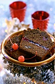 Piernik (Christmas honey cake, Poland) with jam