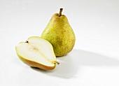 Whole pear and half pear