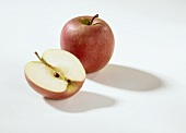 Whole apple and half apple (Pink Lady)