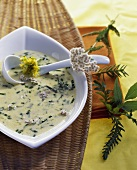 Wild herb soup (for Maundy Thursday)