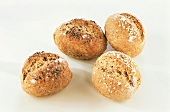 Wholemeal rolls with caraway and sesame