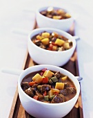 Goulash soup with diced peppers