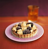 Blackberry and apple tartlet