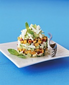 Mango and cucumber salad with crabmeat