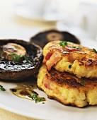 Portobello mushrooms with savoury scones