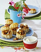Chanterelle vol-au-vents with crème fraîche