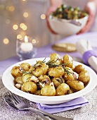 Rosemary potatoes with garlic for Christmas