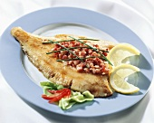 Finkenwerder plaice, with fried diced bacon
