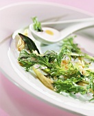 Japanese greens in coconut milk vinaigrette