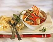 Zander stew (Pörkölt) with peppers