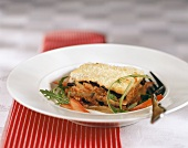Moussaka (baked mince and aubergine dish)