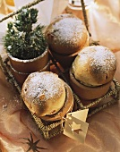 Brioches in flowerpots to give as a gift