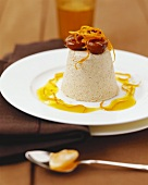 Chestnut parfait with orange sauce