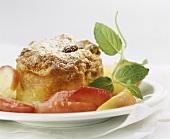 Scheiterhaufen (bread pudding) with fruit