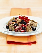 Poppy seed pancake pieces (Schmarren) with redcurrants