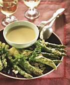 Green asparagus with almond butter
