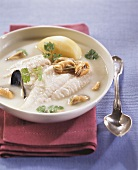 Fish soup with shellfish and cider