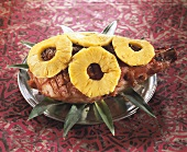 Roast ham with pineapple (Caribbean)