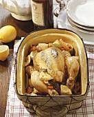 Pollo al limone (lemon chicken with vegetables, Italy)