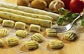 Making herb gnocchi