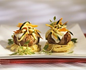 Tortini di carne alla toscana (Frikadellen im Speckmantel)