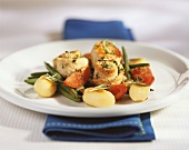 Involtini alla siciliana (veal rolls with vegetables, Italy)