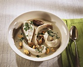 Fish soup with shellfish from Normandy