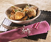 Chicken fricassee, Creole style