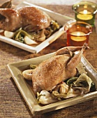 Quails with spring onions, Creole style