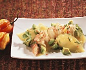 Langouste salad with mango and avocado (Antilles)