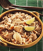 Rice with chicken and tomatoes, Creole style