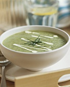 Cold cucumber soup with chives