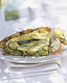 Courgette tart with Parmesan