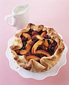 Berry and nectarine tart (gluten-free)