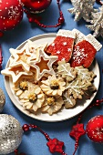 Assorted Christmas biscuits on plate